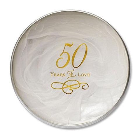 50th Anniversary Decorative Plate - 7 Inch