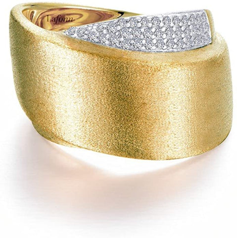 Pave Glam Sterling Silver 2-Tone Gold Plated