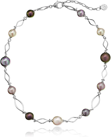 Round Multi-Pearl Necklace, 17""