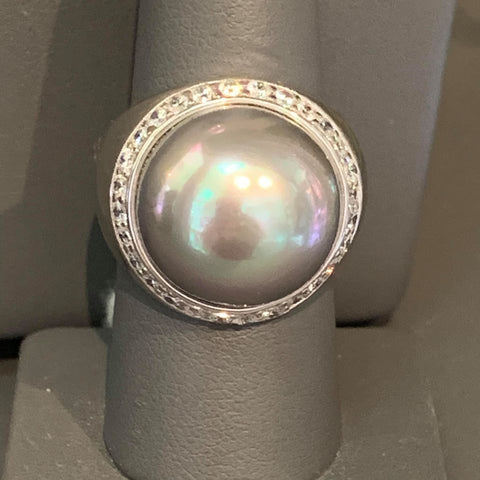GISELLE PEARL STERLING RING