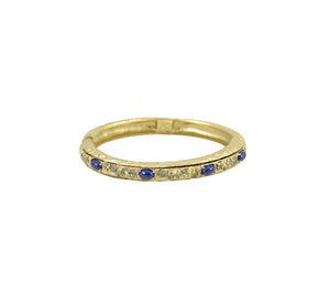 VINTAGE GOLD AND LAPIS BRACELET
