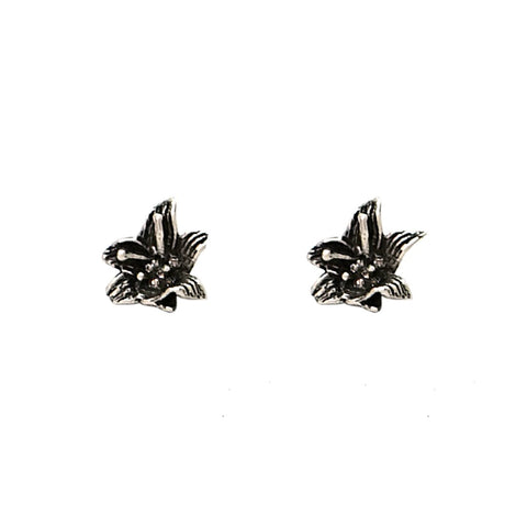 VINTAGE SILVER LILY STUDS
