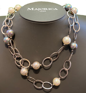 Multiple Pearl Long Necklace