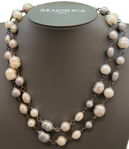 Multi-Color Adjustable Pearl Necklace