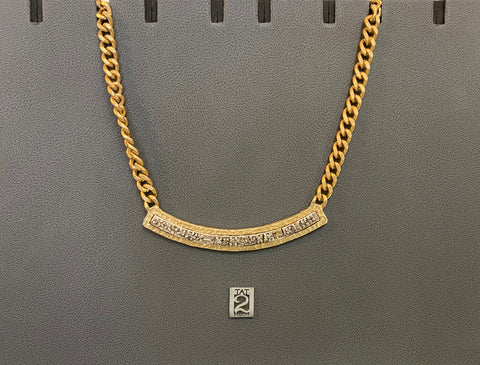 CATATONIA GOLD CHAINLINK NECKLACE