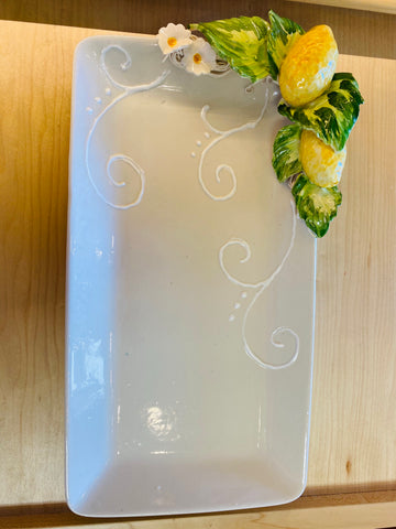 Lemon Rectangle Serving Plate