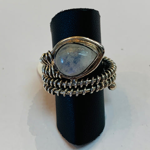 Wire Wrap Moonstone Ring