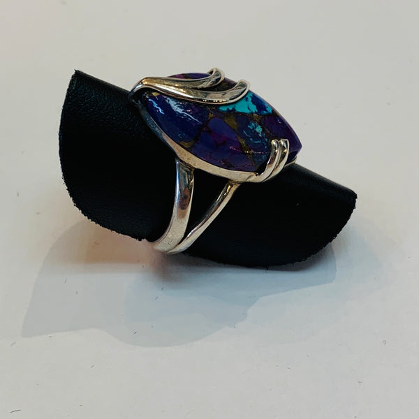 Purple Cooper Turquoise Ring #51