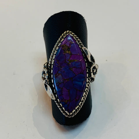 Purple Cooper Turquoise Ring