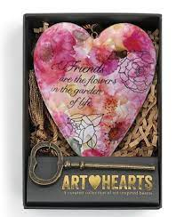 Friends Are Flowers Art Heart Sculpture