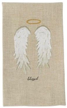 PRINTED ANGEL SENTIMENT TOWELS