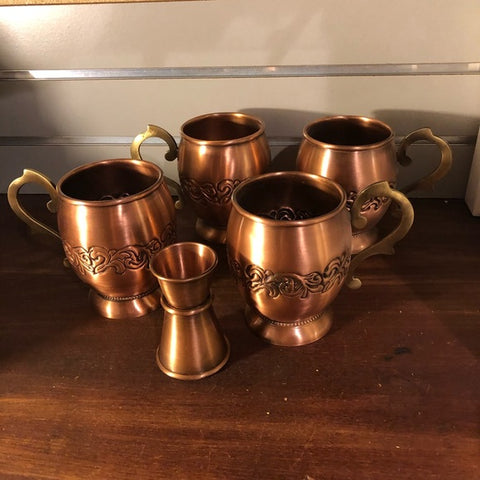 Copper Moscow Mule Mugs-Set of 4