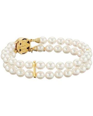 Double Row Pearl Bracelet