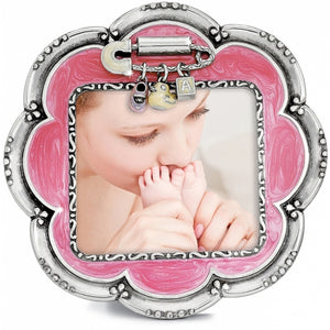 Baby Love Flower Frame - Pink