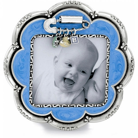 Baby Love Flower Frame - Blue