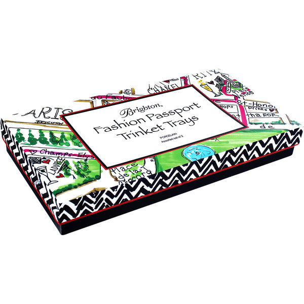 Fashion Passport Rectangle Trinket Tray