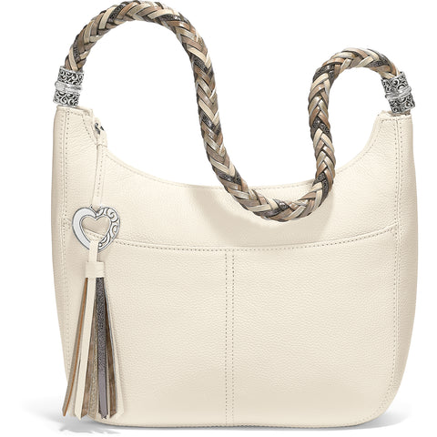 Barbados Ziptop Hobo-White/Neutral