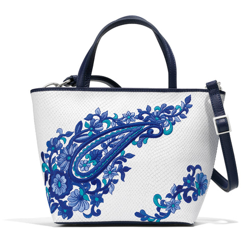 Shira Small Embroidered Tote