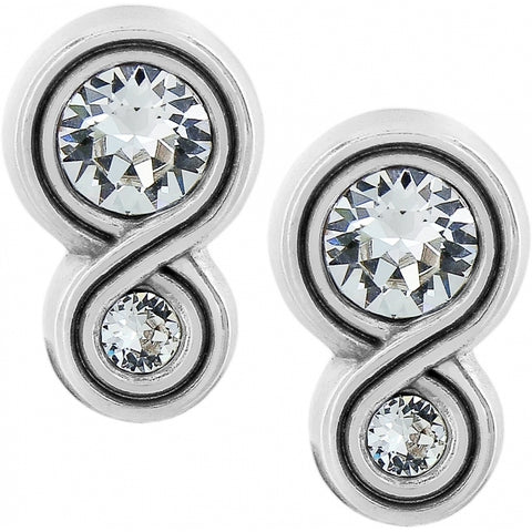 Infinity Sparkle Post Earrings - Silver