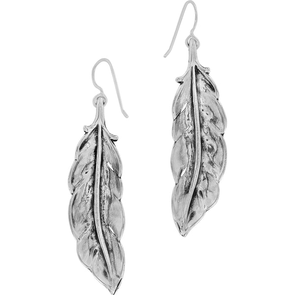 Contempo Ice Feather French Wire Earrings