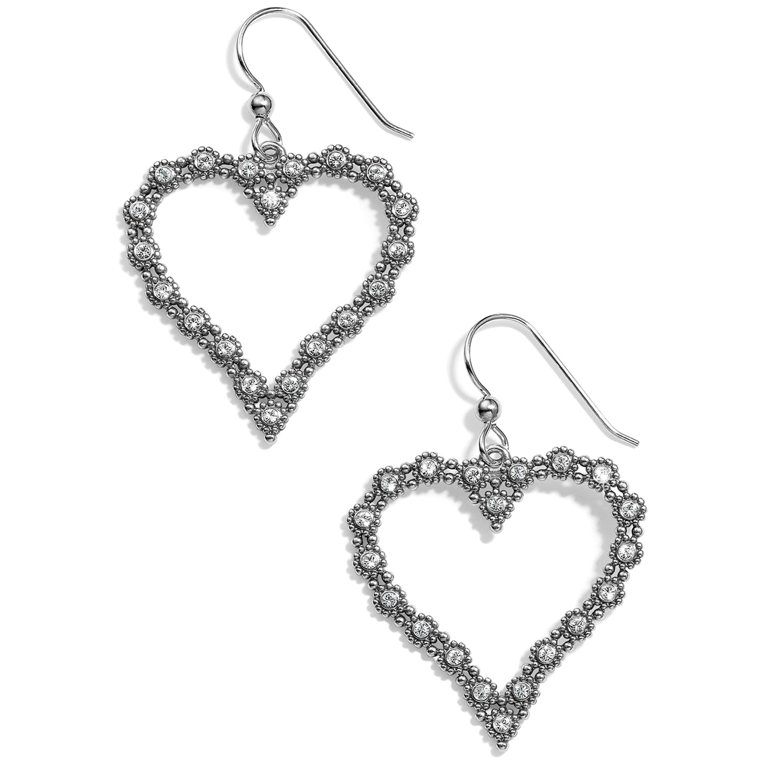 Twinkle Splendor Heart French Wire Earrings