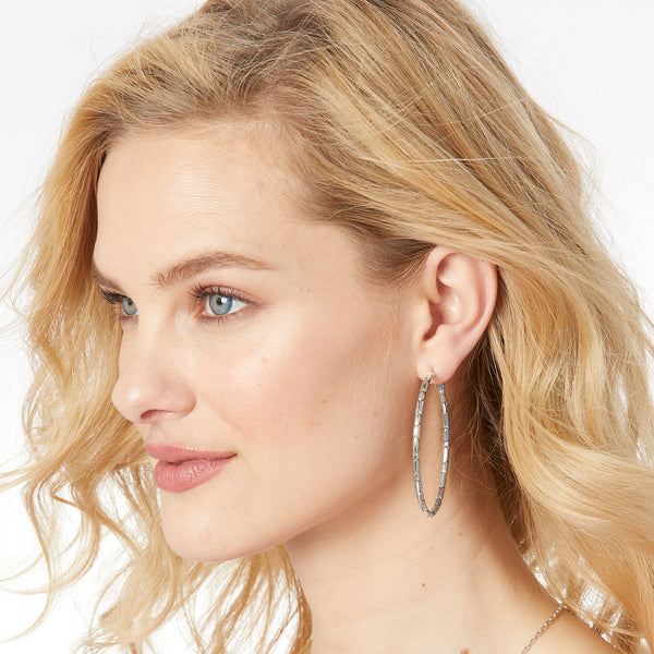 Pebble Large Oval Hoop Earrings
