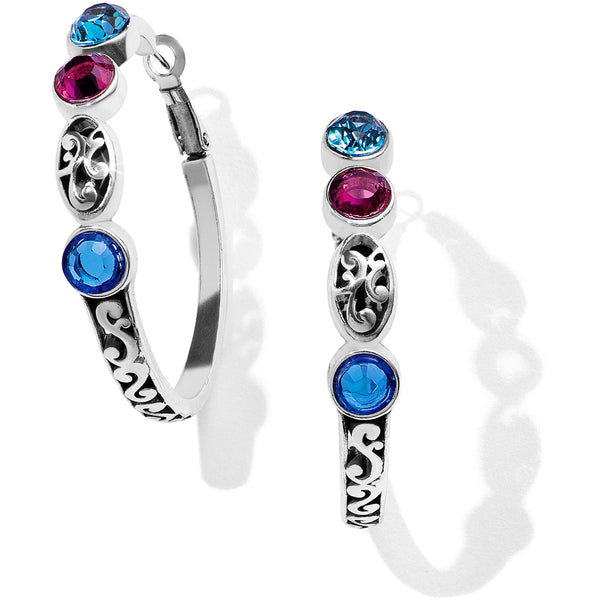 Elora Gems Vitrail Hoop Earrings