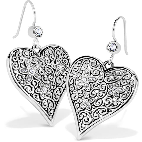 Baroness Fiori Heart French Wire Earrings