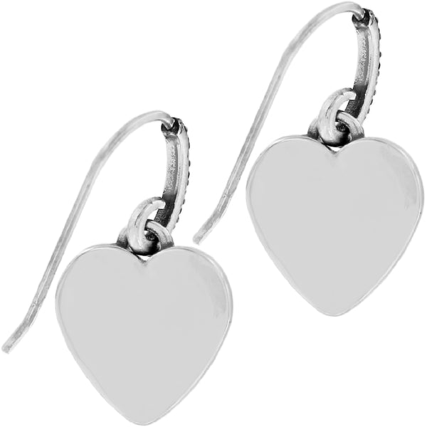 One Heart French Wire Earrings