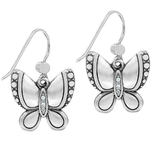 Trust Your Journey Butterflies French Wire Earrings