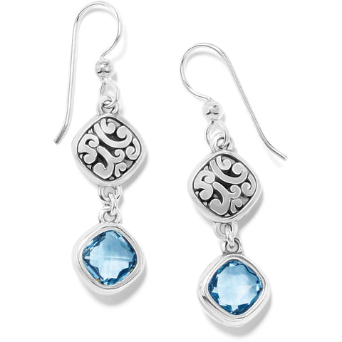 Elora Gems Sky French Wire Earrings