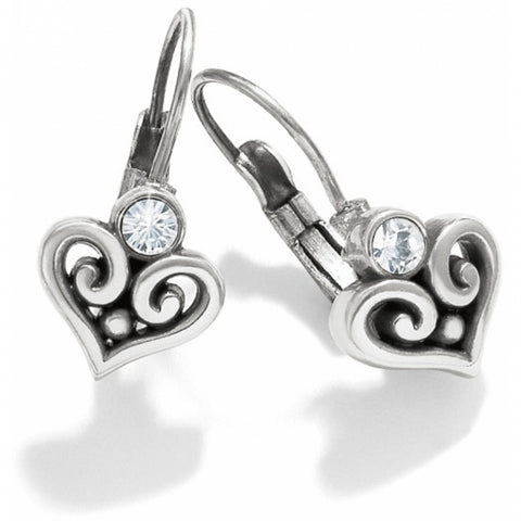 Alcazar Heart Leverback Earrings