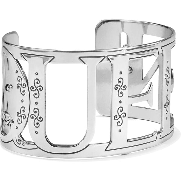 Christo Queen Wide Cuff Bracelet