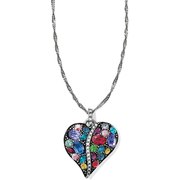 Trust Your Journey Heart Necklace
