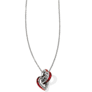Spectrum Hearts Long Necklace - Red