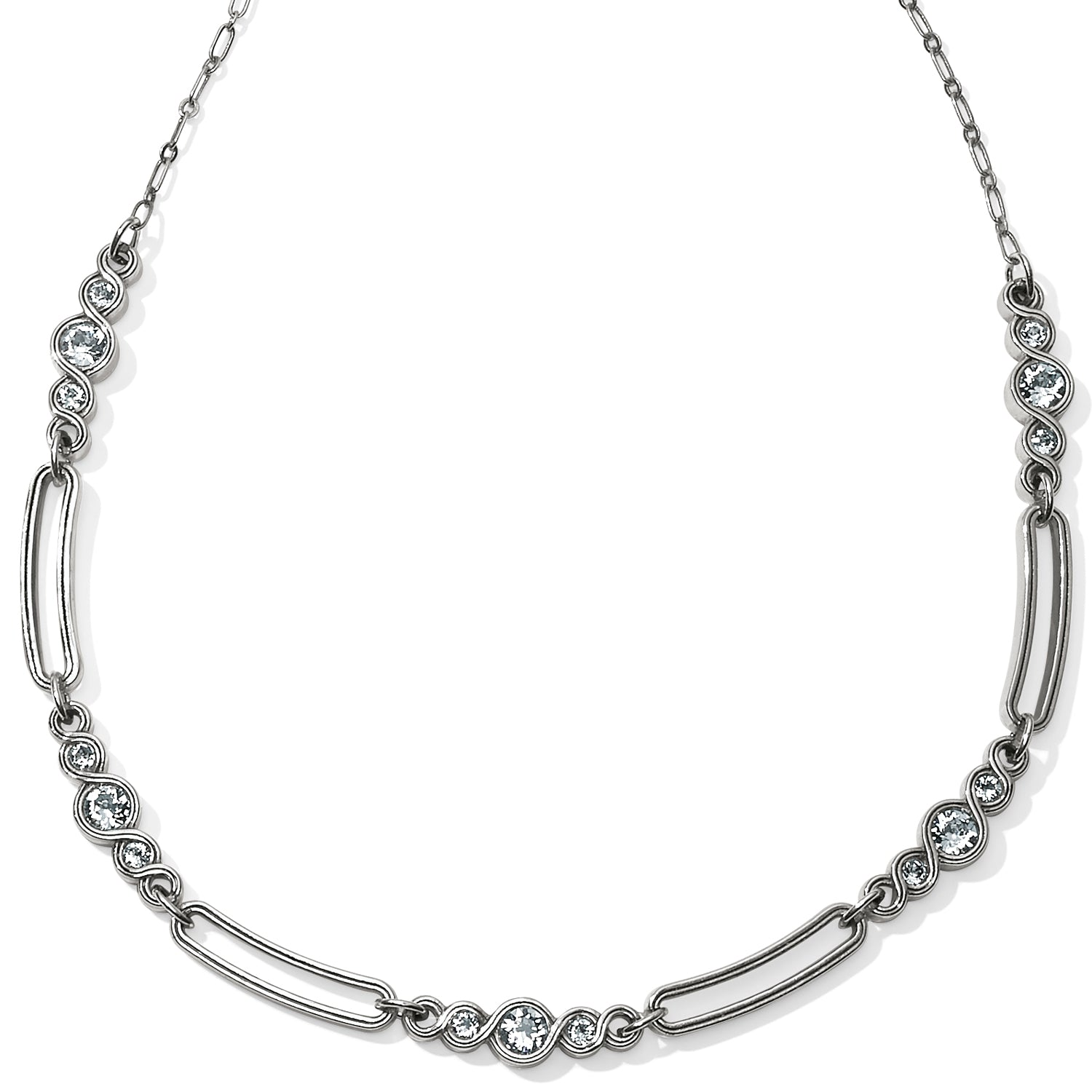 Infinity Sparkle Link Collar Necklace