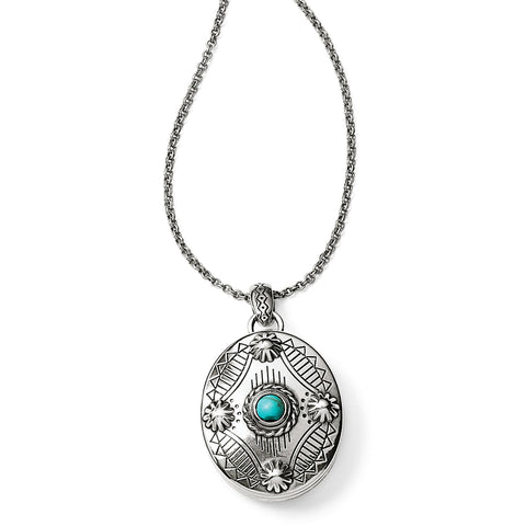 Southwest Dream Oval Locket Necklace