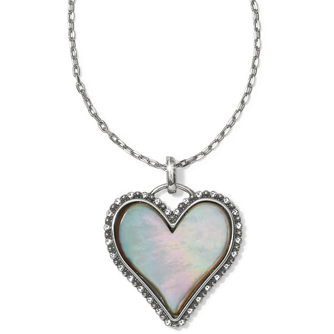Twinkle Amor Necklace Silver-Pearl