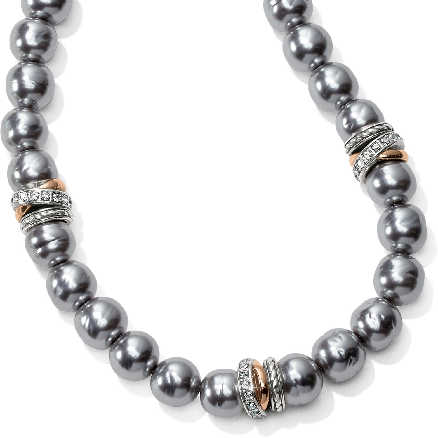 Neptune's Rings Gray Pearl Short Necklace