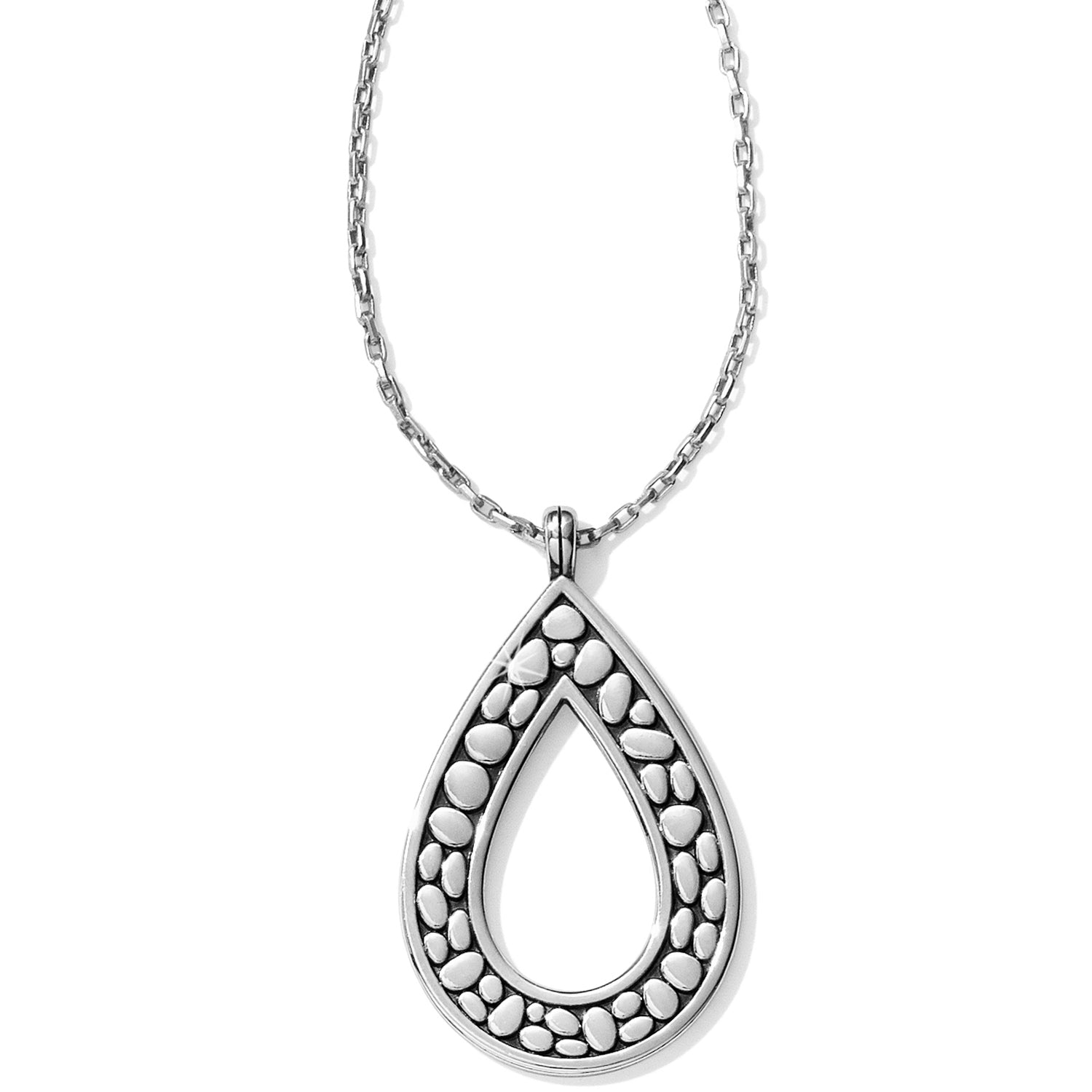 Pebble Open Teardrop Necklace