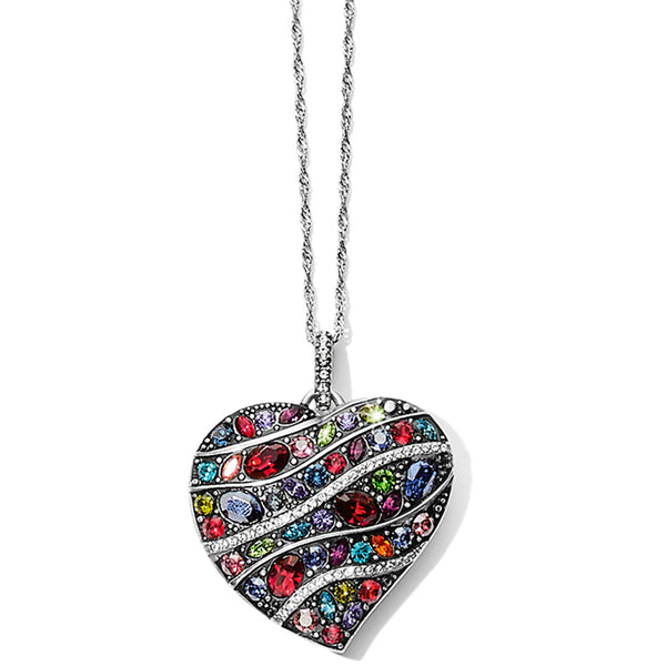 Trust Your Journey Convertible Reversible Large Heart Necklace