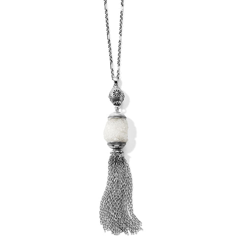 Rajasthan Druzy Tassel Necklace