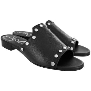 Night Studded Sandals-Black