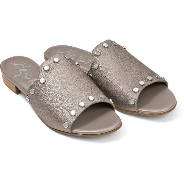 Night Studded Sandals-Zinc
