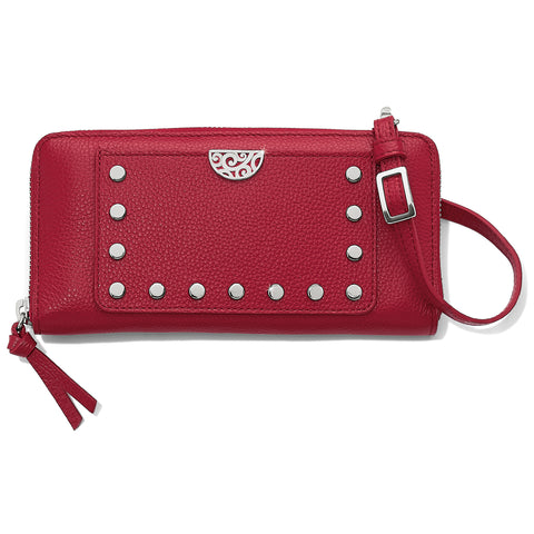 Rox Large Zip Wallet - Lipstick