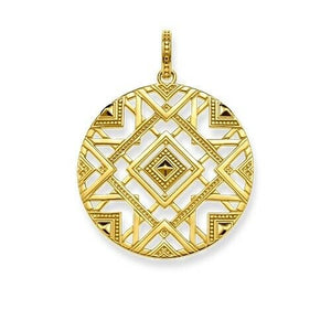 Thomas Sabo Glam & Soul Sterling Silver Yellow Gold Colored Pendant