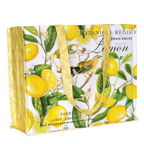 Lemon Basil Cotton Tote Bag