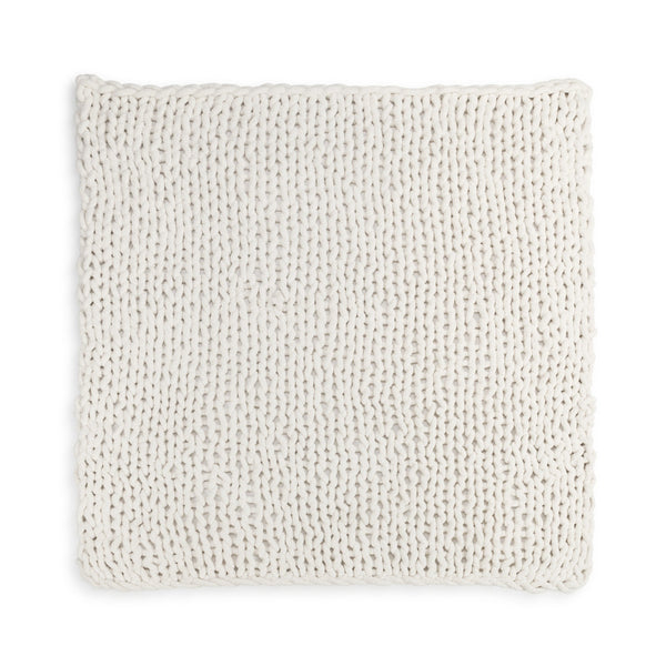 Chunky Knit Blanket - Cream - Comfort Accessory