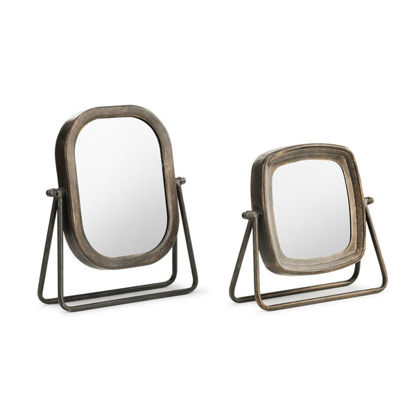 Metal Frame Tabletop Mirror - Set of 2 - Home Décor