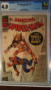 AMAZING SPIDER-MAN #34 CGC 4.0